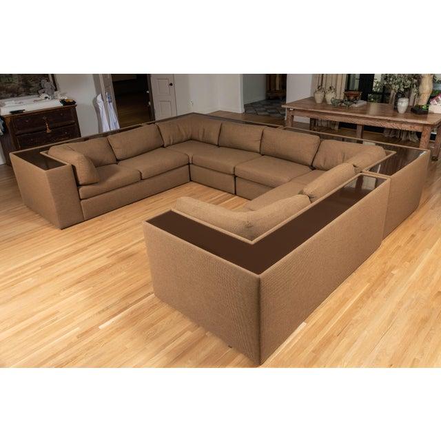 Acrylic Four-Piece Milo Baughman Sectional Sofa with Original Polymer Shelf Back For Sale - Image 7 of 12