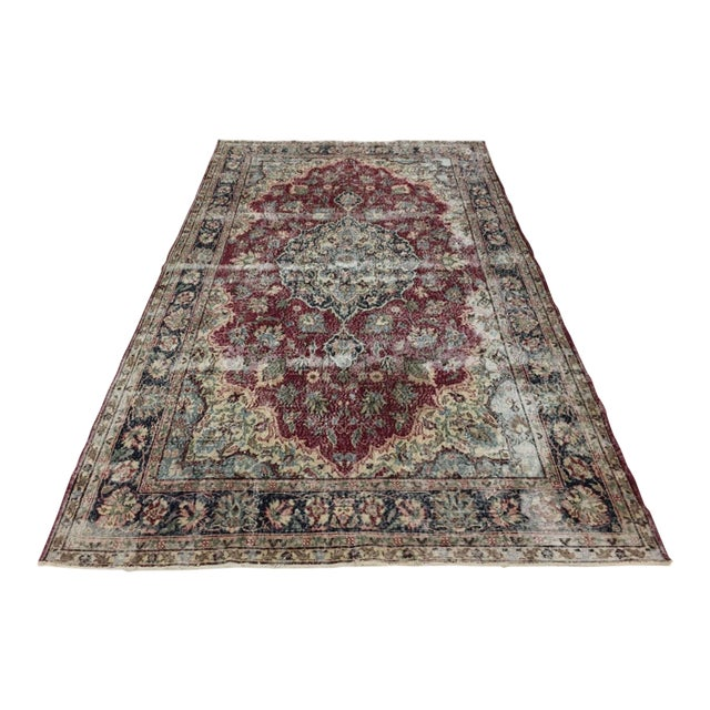 Distressed Turkish Carpet   7'1 X 10'8 For Sale