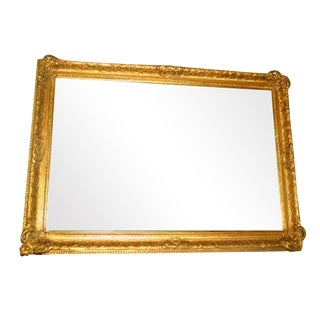 French 19th C. Carved Gilt Frame & Beveled Mirror