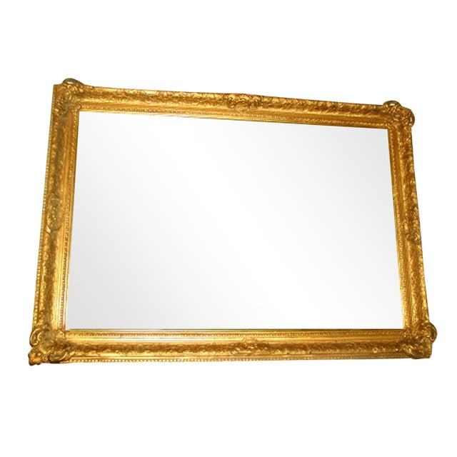 French 19th C. Carved Gilt Frame & Beveled Mirror - Image 1 of 10