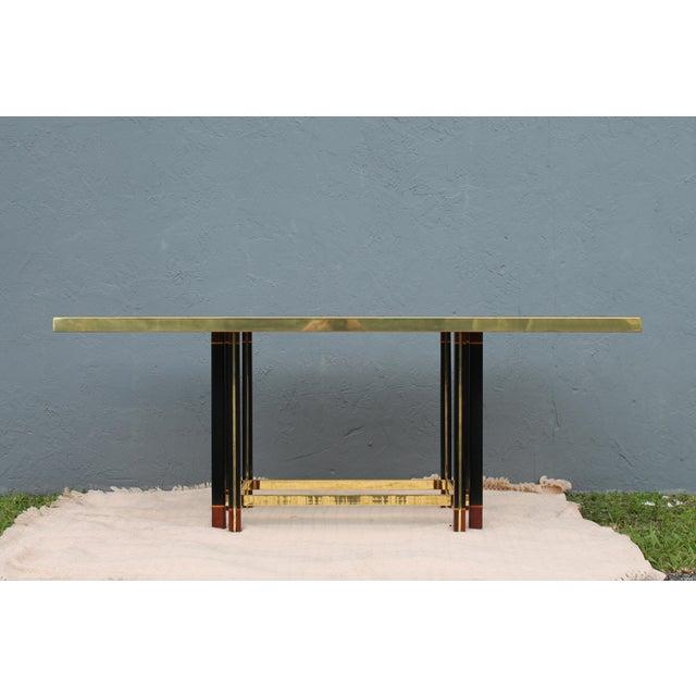 "Paola Barachia ""Roman Deco Spa"" Italian Mastercraft Style Dining Table For Sale - Image 4 of 11"