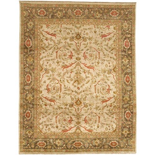 Jinan Ziegler Cream & Walnut Area Rug - 12′ × 15′