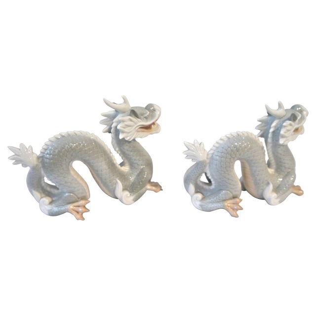 Vintage Japanese Porcelain Dragons - A Pair For Sale - Image 4 of 5
