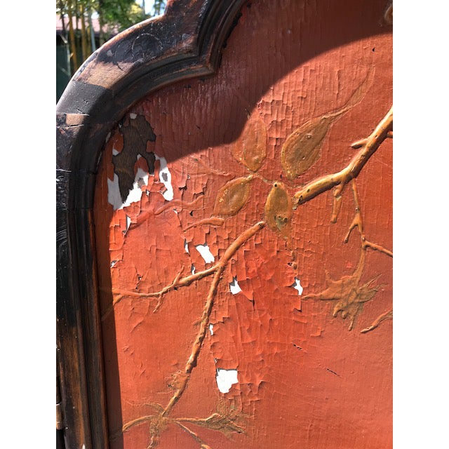 Rosewood Victorian Art Nouveau 3-Panel Screen For Sale - Image 7 of 12