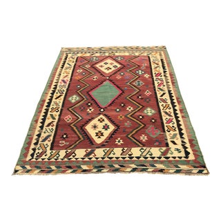 Persian Hand-Woven Kilim Rug, From Iran, Vintage For Sale