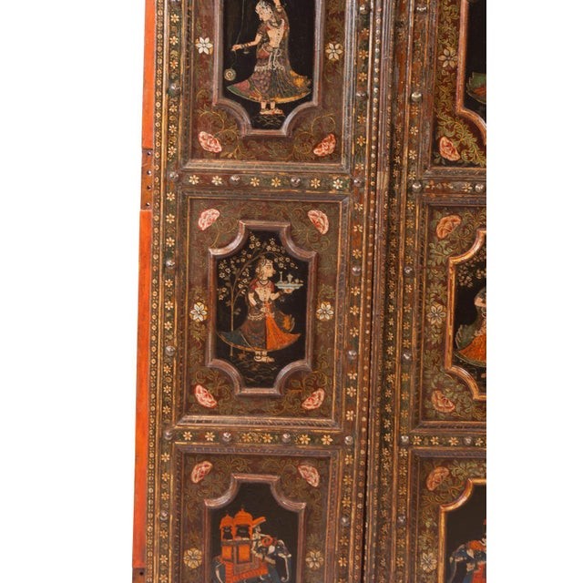1830s Painted Indian Palace Doors - a Pair For Sale In San Francisco - Image 6 of 8