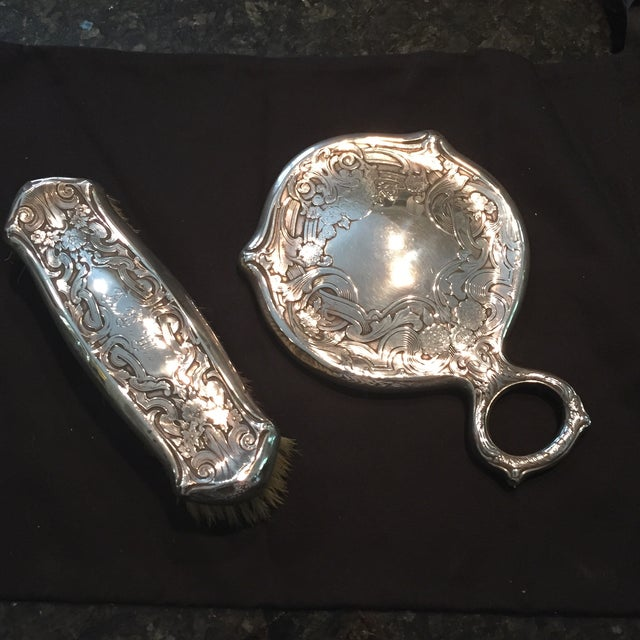Sterling Victorian Mirror Set - Image 2 of 7