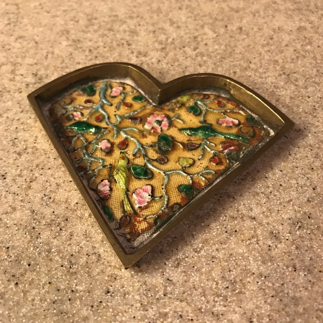Chinese Brass Cloisonné Trinket Dishes - a Pair For Sale In Charlotte - Image 6 of 10