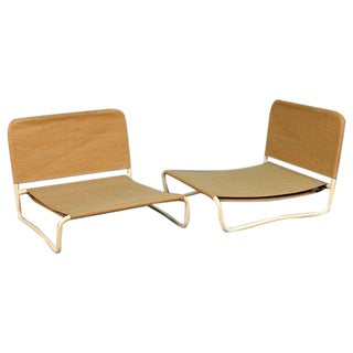 Mid-Century Outdoor Lounge Chairs - Set of 4