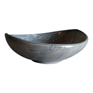 Italian Sgraffito Mid-Century Modern Ceramic Bowl For Sale