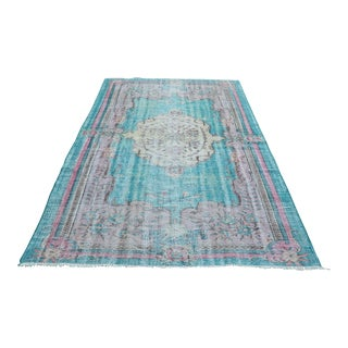 Turkish Handwoven Antique Oushak Carpet - 5′8″ × 8′11″