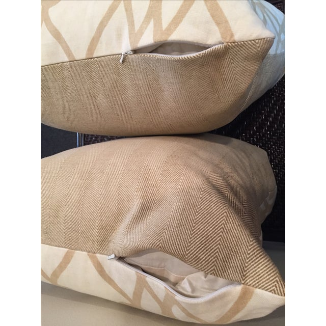 Tan and White Throw Pillows - A Pair - Image 5 of 5