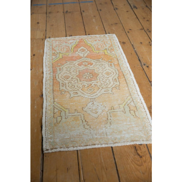 "1960s Vintage Distressed Oushak Rug Mat - 1'7"" X 3'1"" For Sale - Image 5 of 7"