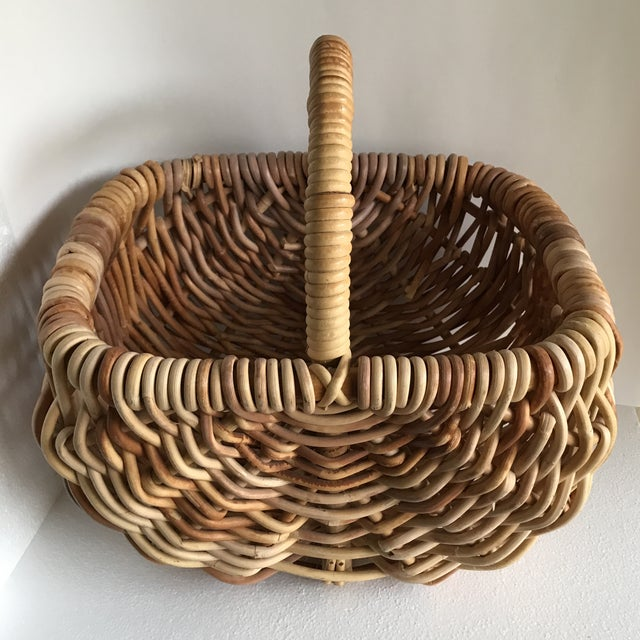 Natural wood woven decor and storage basket. Solid wood in multi tones. Beautiful for wood, magazines, towels or bounty...