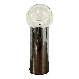 1960s Vintage Mid Century Modern Chrome Edison Bulb Table Lamp For Sale