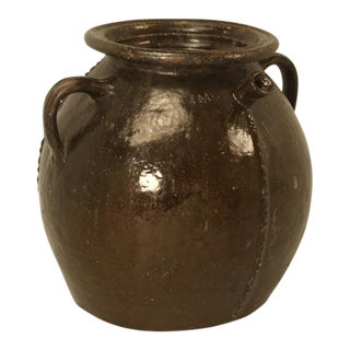 Antique French Pottery Jug With Spout, Early 1800s For Sale