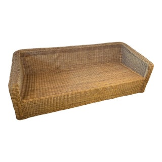 Vintage Gumps Rattan Wicker Sofa For Sale