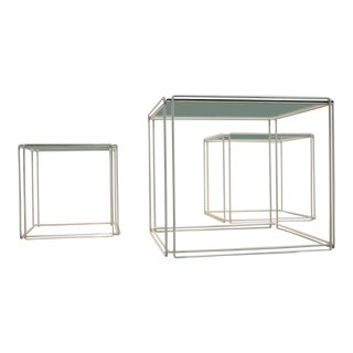 Graphical Isocele Nesting Tables by Max Sauze for Atrow, 1970s For Sale