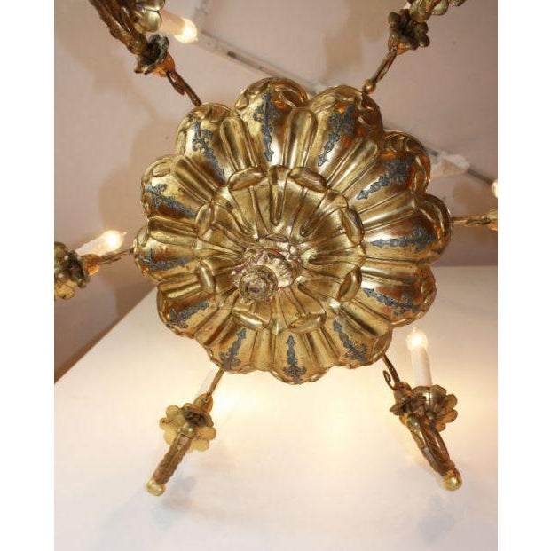 19th Century Italian Giltwood Chandelier For Sale - Image 5 of 6