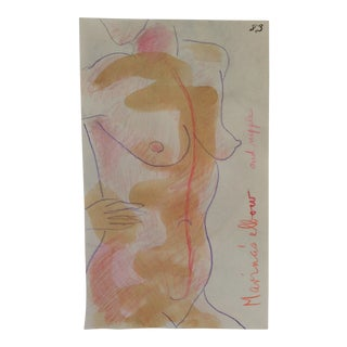 Female Mixed Media by James Bone 1990s For Sale