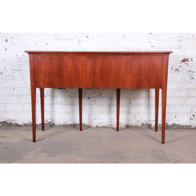 Hekman Regency Style Cherry Wood Sideboard Credenza For Sale - Image 11 of 13