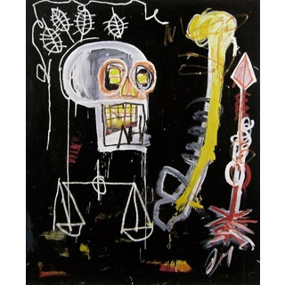 Untitled (Black Scull), Giclee Print, Jean-Michel Basquiat For Sale