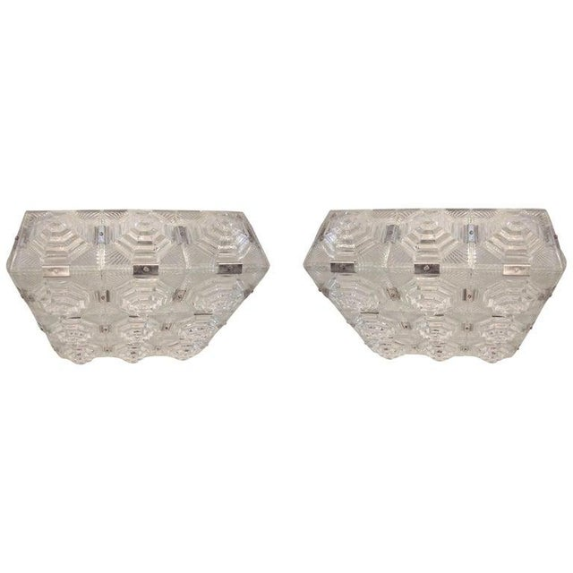 Art Deco Revival Flush Mount Glass Ceiling Squares - 2 Available For Sale - Image 13 of 13
