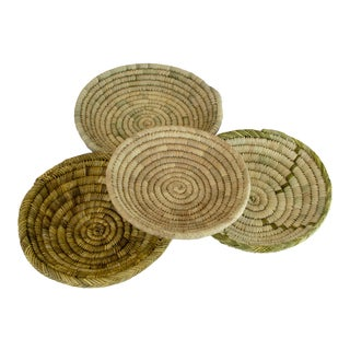 Handmade Moroccan Round Bread & Fruit Baskets - Set of 4