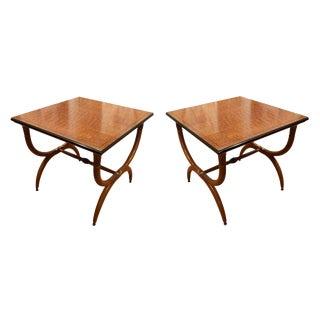 1960s Vintage Robsjohn-Gibbings Side Tables - a Pair For Sale