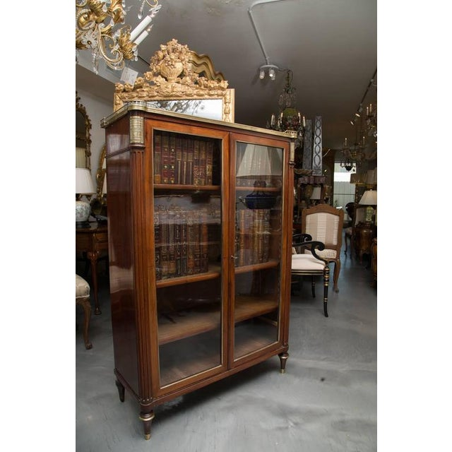 Gold 19th Century, Louis XVI Style Mahogany Bookcase For Sale - Image 8 of 10