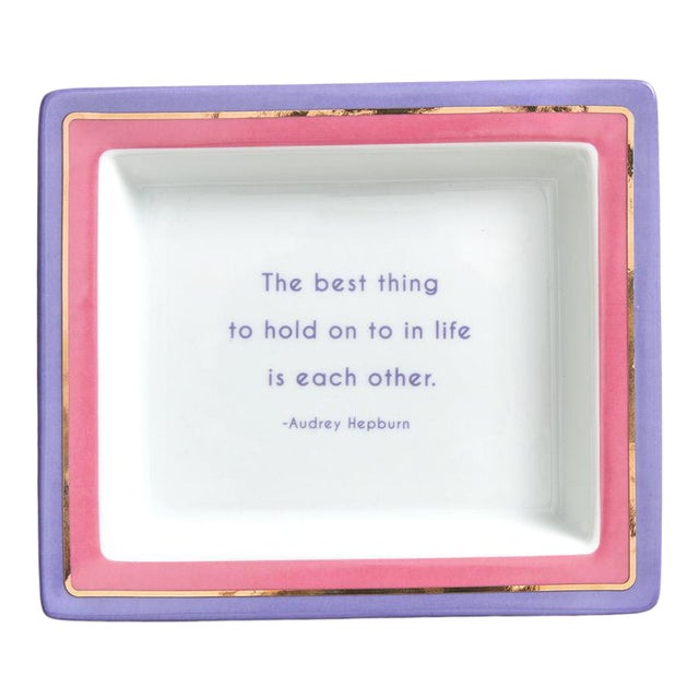 Audrey Hepburn Quote Ceramic Catchall Tray For Sale