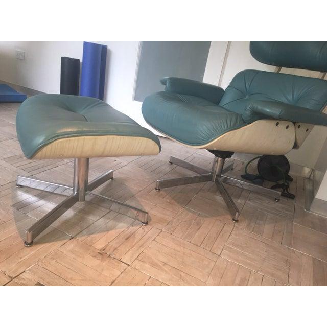 selig eames lounge chair ottoman rare color mint condition