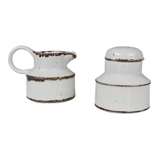Midwinter Stonehenge Cream & Sugar Set Mid Century Danish Modern For Sale
