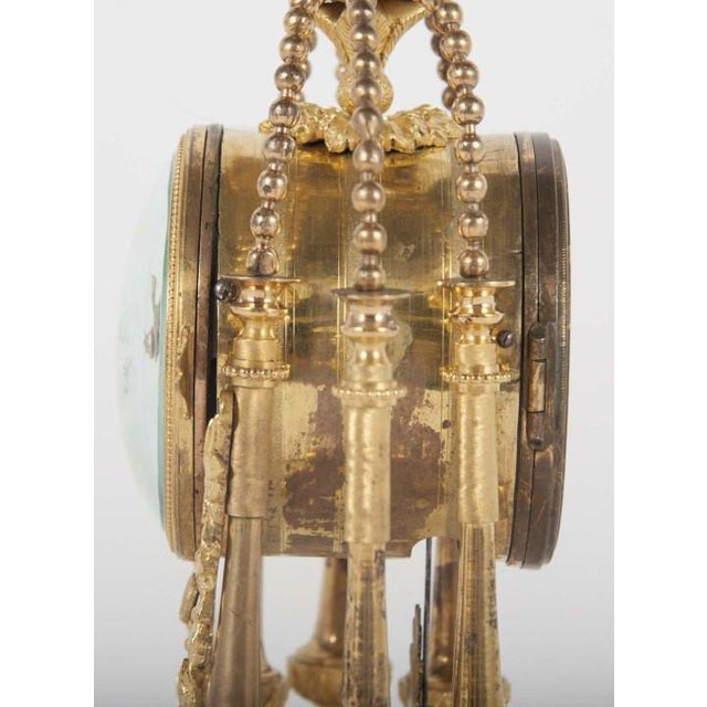 18th Century Gilt Bronze French Portico Clock For Sale - Image 10 of 12