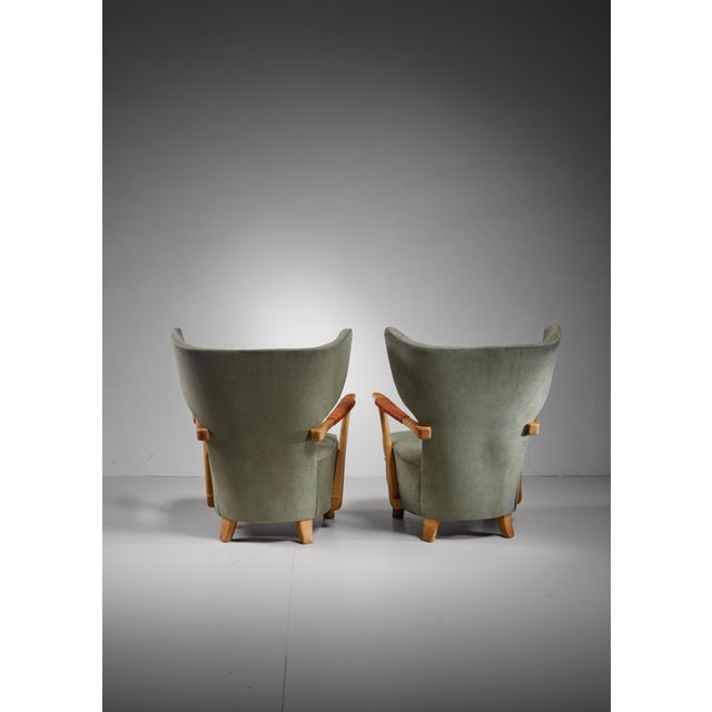 Runar Engblom pair of lounge chairs, Finland, 1940s For Sale - Image 6 of 7