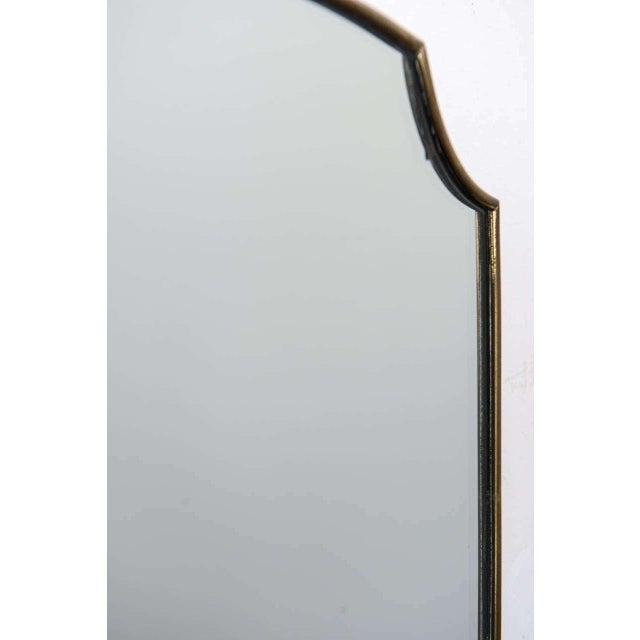 Gio Ponti-Style Italian Shield Mirror - Image 4 of 7