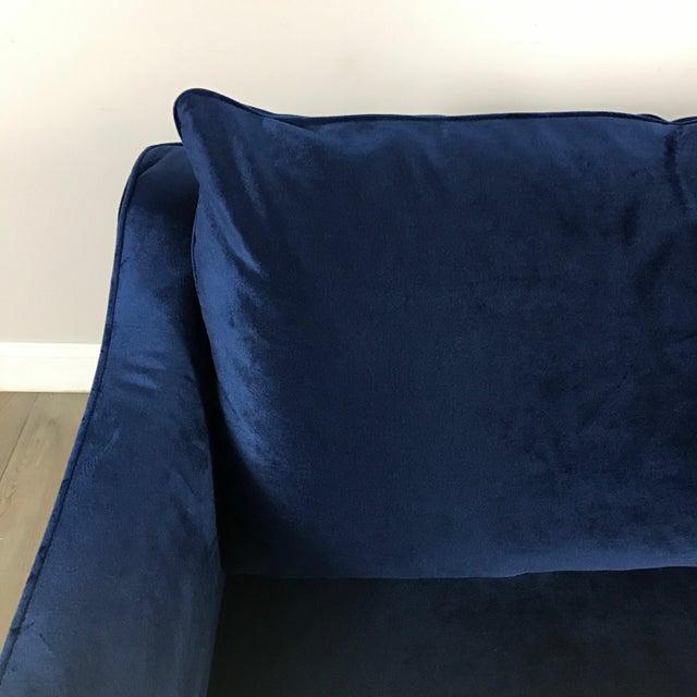Royal Blue Velvet Sofa - Image 4 of 11