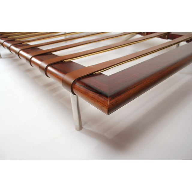 Pink Early Production, Rosewood Daybed Designed by Ludwig Mies Van Der Rohe For Sale - Image 8 of 11