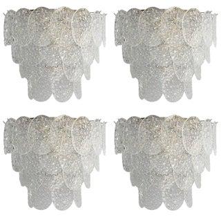 Four Bubble Sconces by Mazzega For Sale
