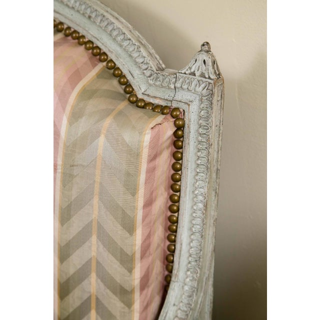 Distressed Paint Louis XVI Style Settee by Jansen - Image 4 of 10
