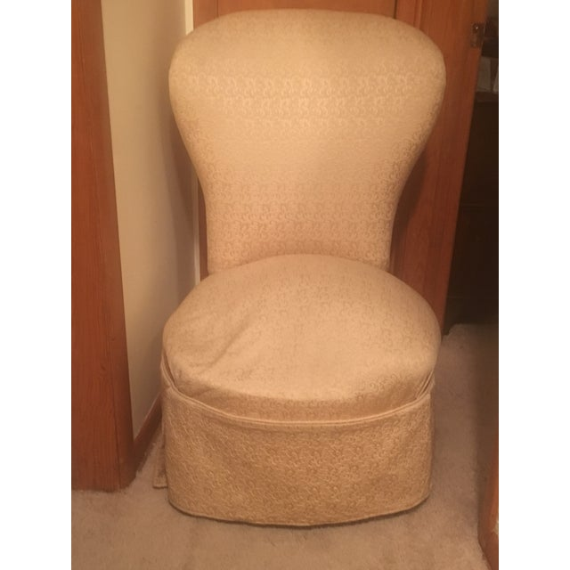 Vintage High Back Slipper Chair - Image 2 of 3