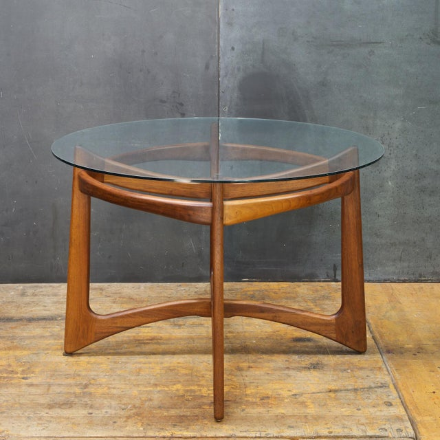 Adrian Pearsall for Craft Associates circa 1960s. All with Solid Walnut constructed Bases. The Vinyl on all the dining...