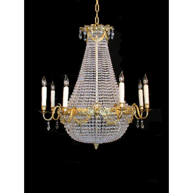 Distinguished french empire basket chandelier decaso french empire basket chandelier image 2 of 8 aloadofball Choice Image