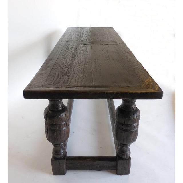 Custom Baroque Style Console Table For Sale - Image 4 of 11