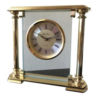 Modern Brass Seth Thomas Mantle Clock For Sale