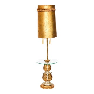 Nardini Hollywood Regency Floor Lamp-Table With Original Shade For Sale