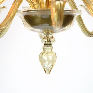 Elegant Murano Blown Amber Glass 10-Light Chandelier Preview