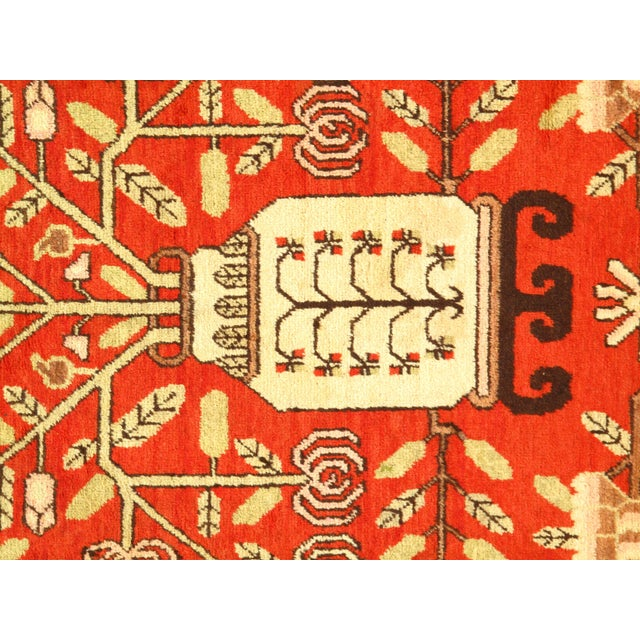 Early 20th Century Antique Khotan Wool Rug - 5′6″ × 8′10″ For Sale - Image 4 of 5