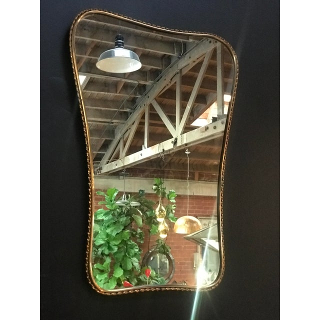 Brass Mirror, Italian 1960s - Image 5 of 7