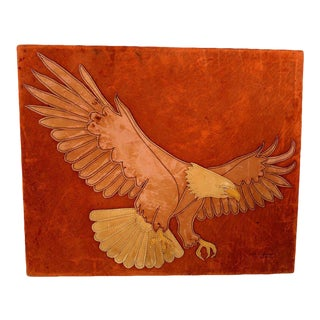 Marc O Johnson Eagle in Leather Art Work For Sale